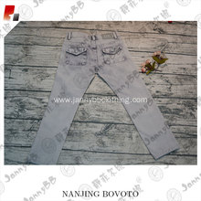 kids jeans with stone washed denim fabric