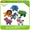 Promotion forme Assemable Animal extrudé Eraser avec pied amovible