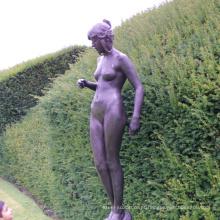 jardim home decor metal craft vida tamanho senhora nude jardim estátuas