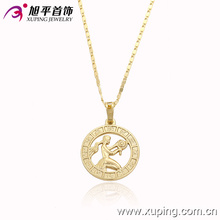 Colgante delicado del oro de la manera 14k plateado con un Wowan