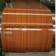 PPGI with Wooden Design with High Quality in Thickness 0.18~0.8mm