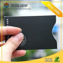Aluminium Foil Paper Carte RFID Porte-cartes en plastique