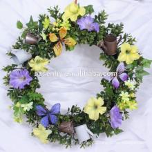Eté Blue Hydrangea Silk Spring Door Wreath