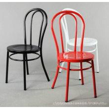 Clásico popular retro réplica de metal barato acero restaurante sillas de hotel