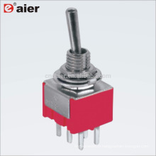 MTS-223 6MM 6 Pin DPDT 3-Way ON OFF ON Momentary Toggle Switch