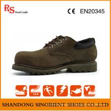 Schwarzer Stahl Goodyear Arbeit Schuhe Italien RS602