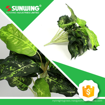 wholesale mini artificial magnolia leaf for making green wall usage