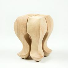 Piernas de madera sin procesar del sofá del salón del sofá de los muebles del 15 * 6cm