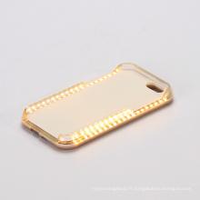 Smart Phone LED Selfie lumière cas pour iPhone
