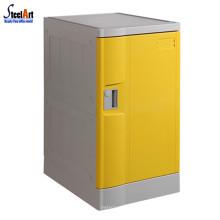 Venda quente porta amarela piscina usado abs armário de plástico