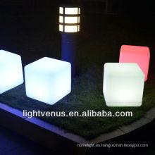 mesa cubo de LED y la brillante muebles mesa de cubo