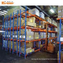 sistema de almacenamiento de almacén rejilla de paleta de doble profundidad resistente
