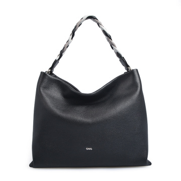 Neues Design Griff Weben Leder Lady Hobo Bag