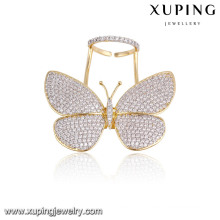 Fashion Elegant Multicolor CZ Butterfly Jewelry Finger Ring for Women-13783