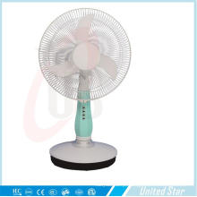 16 polegadas DC / ventilador de mesa recarregvel com 3 velocidades (USDC-403)