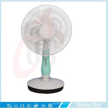 Ventilateur de table 16 pouces DC / rechargeable à 3 vitesses (USDC-403)