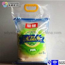 Bolso de empaquetado plástico del PA del arroz modificado para requisitos particulares con la manija