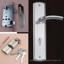 High security solid casting lever handle lock on plate complete set