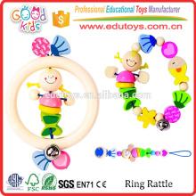 Yunhe Factory Good Price Colorful Baby Rattle Toy Unique Design Petits jouets en bois à vendre