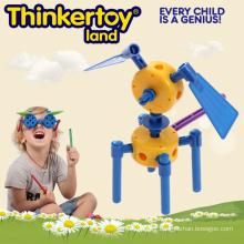 Jeu de puzzle Colorful Block Dog Model Education Toy for Kids
