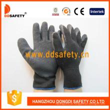 10 Calibre Preto T / C Shell Luva de Segurança Acabamento Revestimento De Látex Preto Enrugamento Dkl338
