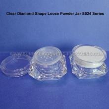 20g diamant forme poudre tamis cas