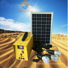 10W Small Solar Panel Lighting System for Home/Outdoor Camping