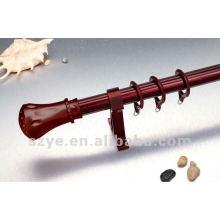 27mm red wood aluminium single curtain rods