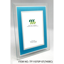 Blue Glass Mirror Coated Photo Frame