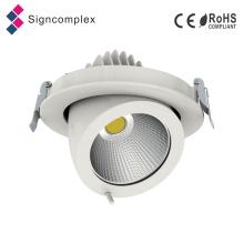 Diodo emissor de luz Downlight da ESPIGA de 100lm / W CRI80 CRI90 20W 30W 40W Gimble com 130mm cortado