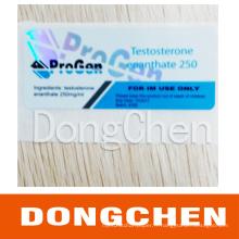 Étiquette imperméable permanente de fiole 10ml d'injection de stéroïdes adhésifs permanents de fiole