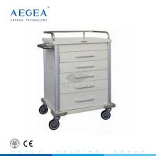 AG-MT028 Cinco cajones mueble sala de pacientes sala de medicamentos y precio carro de la distribución de la medicina