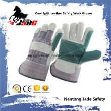 Gant de travail en cuir fendu à double protection Palm Industrial Safety