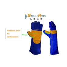 Luva de couro para soldagem por resistência a altas temperaturas