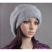 Bonnet béret en laine (HW140) pour femme