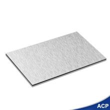Feste dekorative Verkleidungsplatte aus gebürstetem Aluminium