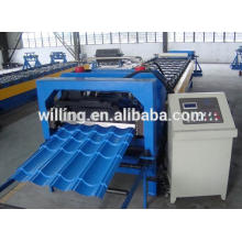 CNC steel tile forming machine with PLC