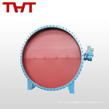2017 Best price hydraulic round louver turbo butterfly valve for sale