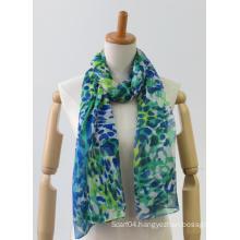 Latest multi-colour long light printing fashion ladies scarf