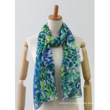 Latest multi-colour long light printing fashion ladies scarf
