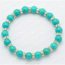 Bracelet turquoise avec bague diamon blanc pour bracelet d'accessoires de mode