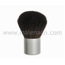 Escova natural do cabelo Kabuki com Ferrule de prata