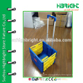 plastic rolling folding trolley