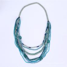 Long Multi supports collier de perles en plastique