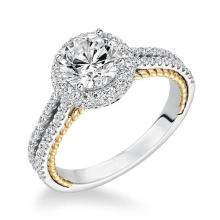 Anéis De Noivado De Diamante De Ouro