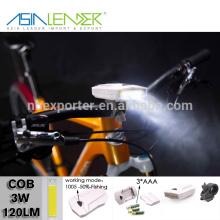 Productos de Iluminación Profesional BT-4868 100% -50% Iluminación-Flash ABS 3W COB Luz de bicicleta LED