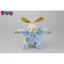 """5.9 """"Lovely En 71 Approved Samt Soft Kinder Spielzeug Blue Rabbit Bunny mit Ring Rattle"""