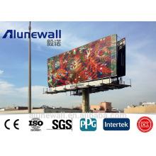 2M largeur différentes couleurs / brillant / couleur métallique / argenté panneau composite en aluminium brossé pour panneau publicitaire