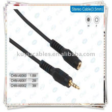 AV cable,3.5mm Male to Female Audio Extension Cable