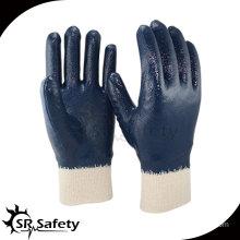Best interlock liner nitrile gloves industrial heavy duty rubber gloves